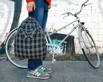 everyday backpack bicycle backpack cycling backpack lightweight backpack messenger backpack him backpack her retro backpack gift for cyclist