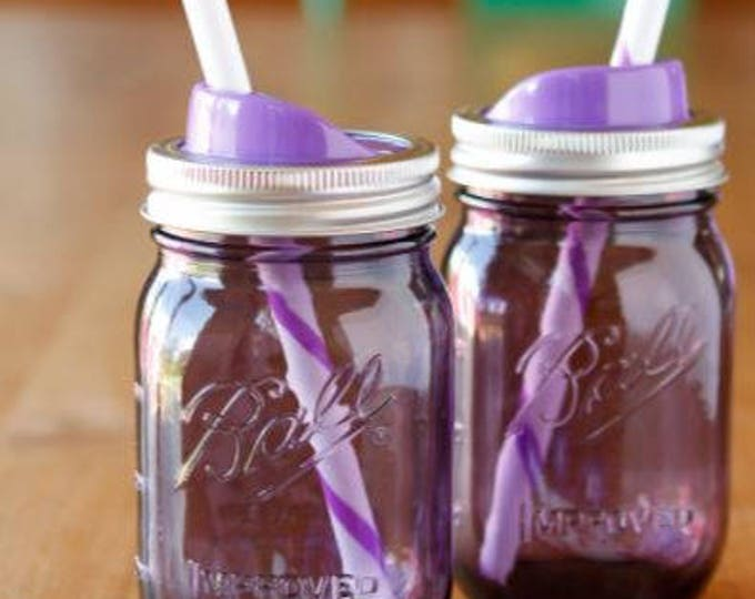 Mason Jar Sip and Straw Lids Wide Mouth // Healthy Living // Gift Ideas // Mason Jar Accessories // Drinks Lids // Sports // Fitness