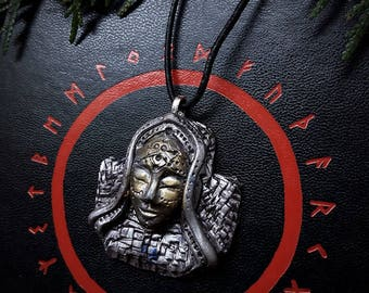 Earth Goddess  Pendant  /Runic Pendant/Rune Jewelry/Handmade/Unique/Pagan/Heathen/Amulet