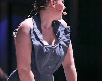 Grey neck corset