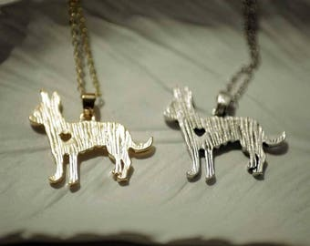 Super Cute Chihuahua Necklace in silver or Gold