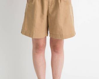 90s Khaki Linen Shorts M
