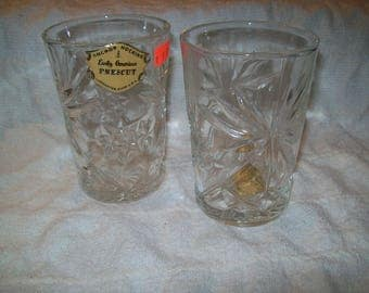 """EAPG 4.5"""" Tumblers with Labels Set of 2"""