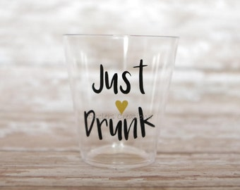 Just Drunk Decal Etsy - Vinyl decals for shot glasses