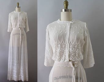 RESERVED Edwardian Lawn Dress / Antique 1900s Cotton Dress / XSS