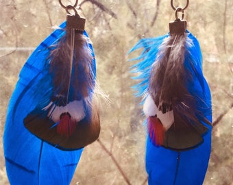 Feather earrings/Feather earrings/Pink earrings/Aboriginal collection/tribal earrings/boho chic/Burning Man