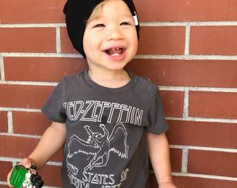 Black Baby Slouchy Beanie, Slouchy Baby Beanie, Black Hat, Black Beanie, Baby Hat, Slouchy Baby Hat, Toddler Beanie, Baby Beanie, Hipster