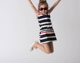 New Arrivals! Stripe Dress, Girls Stripe Dress, Knitted Dress, Toddler Dress, Summer Dress, Spring Dress, Jersey Dress, Mini  Dress