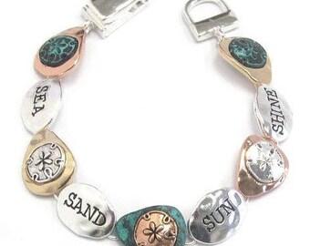 Sea Theme Sun Sand Sea Shine Bracelet Bangle