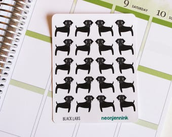 Black Labrador Stickers (Set of 20 Stickers)