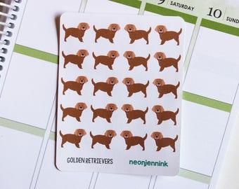 Golden Retriever Stickers (Set of 20 Stickers)