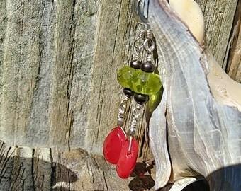Red Teardrop Glass