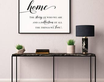 Home Definition Poster, Home quote sign, Home sign, A story of us sign, Farmhouse Wall Decor