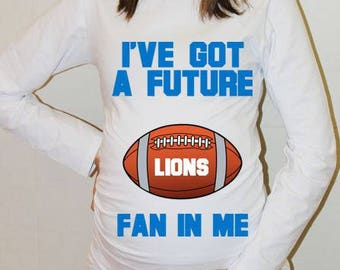 Lions Maternity Shirt Detroit Lions Baby Future Fan Shirt Baby Boy Baby Girl Detroit Football Maternity Clothing Pregnancy Shirt Baby Shower