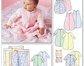 McCall's 4236, Baby and Infants Pattern, includes bunting, jumpsuit, hat, and blanket, Sizes S-M-L-XL, New, UN-CUT