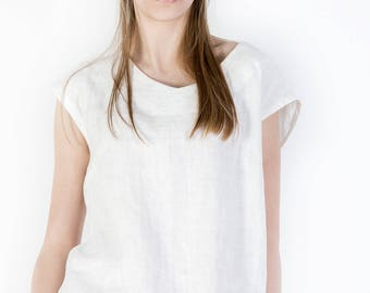 Linen blouse, Sleeveless Linen Top, Linen Tunic Top, Linen Womens Clothing, Linen Shirt, Boho Blouse, Plus Size Clothing Casual Blouse