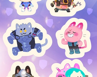 Holographic Meow-verwatch Sticker Sheet