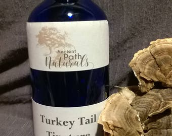 Turkey Tail Tincture 4oz Wild Harvested, Sustainable, Potent, Pure.