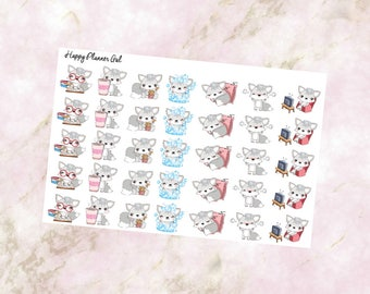 Foxy the Fox Character Stickers (Glossy)