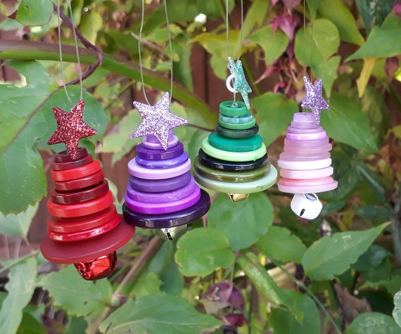Button Christmas Tree Decorations Christmas Tree Tree