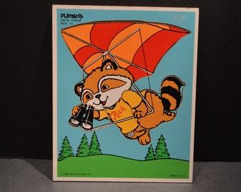 Vintage Playskool Shirt Tales-Rick Wood Tray Puzzle 330-05