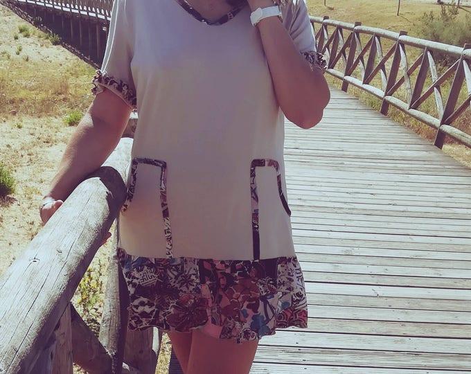 Caramel dress, tunic, Women's clothing, dress, Fabulous dress, Handmade dress, lovely dress, knitted tunic, dress with pockets,