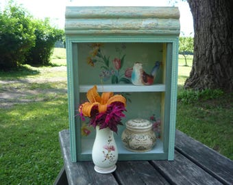 powder blue display shelf