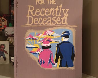 Handbook for the Recently Deceased | Beetlejuice | Tim Burton | Wooden Book Box Display | Keepsake Box | Killer Crafts