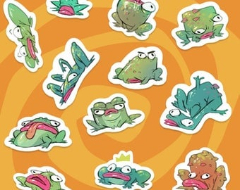 Stickers - Frogs - illustrated by krzymsky