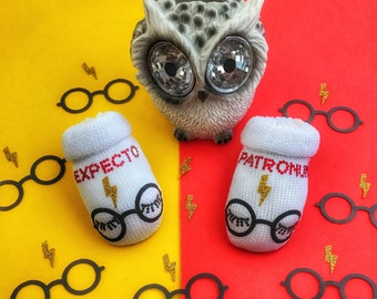 Newborn Harry Potter baby shoes in soft white cotton Harry Potter themed personalized and hand crystallized with Swarovski crystals