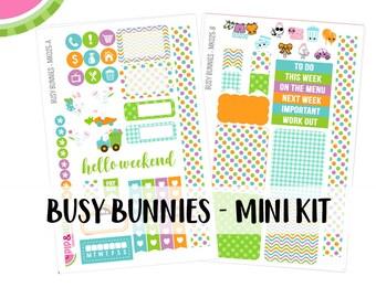 a La Carte   Busy Bunnies Mini Kit   Spring, Easter, Bunny   Erin Condren and Mambi    MK025