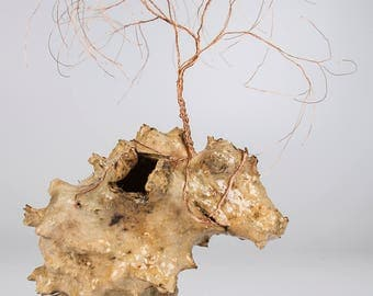 The Jagged One (Preserved Saguaro Boot with Copper Wire Tree)