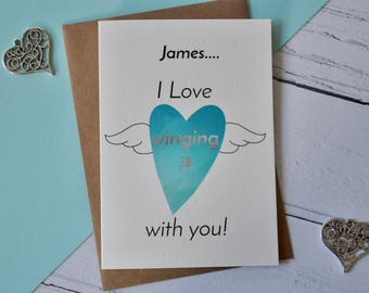 Winging It With You Valentines Card, Card for Him, Card for Her, Alternative Valentines Card, Valentines For Him, Valentines For Her