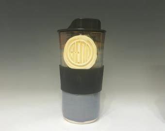 Bend Pottery Travel Mug  Pottery Travel Mug - Ceramic Travel Mug - Oversized Travel Mug - Handmade Travel Mug - Travel Mug