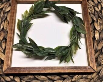 Small Framed Wreath / Mini Framed Wreath /  Fixer Upper Framed Wreath Farmhouse Framed Wreath /  Wood Framed Wreath / Rustic Framed Wreath