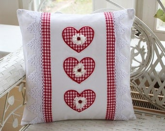 Pillow cover Heart, country house style