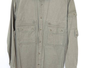 Size M - Orvis vintage heavy men's outdoor adventure/fishing/hunting/safari/hiking shirt,