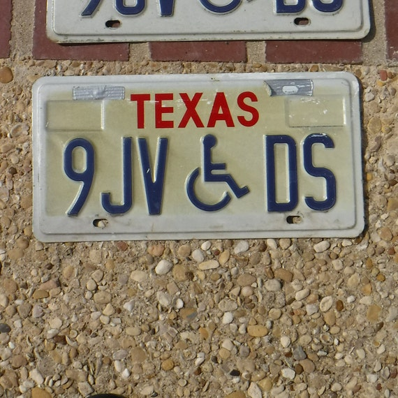 Texas Man Cave Decor : Texas license plate handicapped