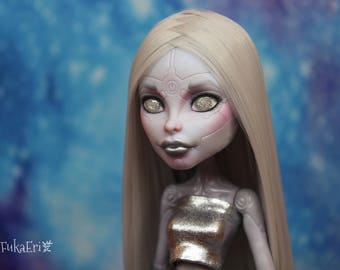 Monster High Custom Repaint Art doll OOAK Elle Eedee