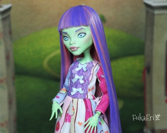 Monster High Custom Repaint Art doll OOAK Venus McFlytrap