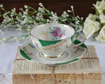 Vintage Winterling Bavaria teacup set - Germany - Floral tea cup - English Fine Bone China Tea Cup Set - Garden Tea Party