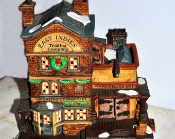 DEPT 56, East Indies Trading Company, 1997 Dickens Village Series, Lighted House, RETIRED No 58302, Christmas House, Department 56