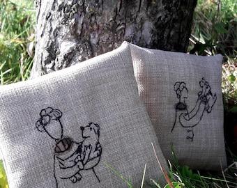 Sybil & Lottie lavender sachets - set of two.