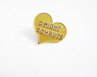 Dwight Schrute Pin - The Office Enamel Lapel Pins - The Office TV Show Pins - Best Friend Gift - Gift For Boyfriend - Stocking Stuffer