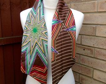 African print head tie, African print scarf