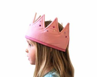 Children's Felt Crown, Birthday Crown, Girl's Crown, Queen Costume, Toddler Dress Up Crown, Children's Birthday Gift, Dressing Up Costume,