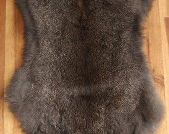 1x DARK CHOCOLATE Rabbit Skin Fur Pelt Tanned for dummy, animal training, crafts, fashion, accessories, fly tying, soft furnishings
