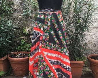 Vintage 70's stunning patterned skirt/pareo