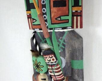 Traditional Style Hopi Hemis Kachina by Thomas Duwyenie