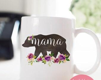 Mama Bear Mug, Mom Gift, New Mom Mug, Coffee Mug, Gift for Mother, Mom Mug, Mama Bear Coffee Mug, Mug for Mom, Watercolor Mama Bear
